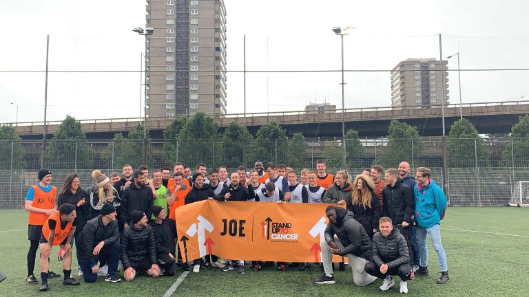 Men's FC at the charity football match
